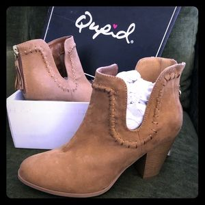 Qupid Brand Faux Suede Booties